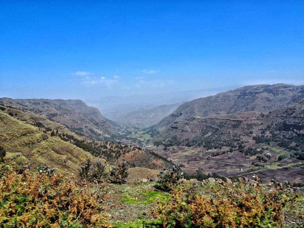 On the road in Ethiopia