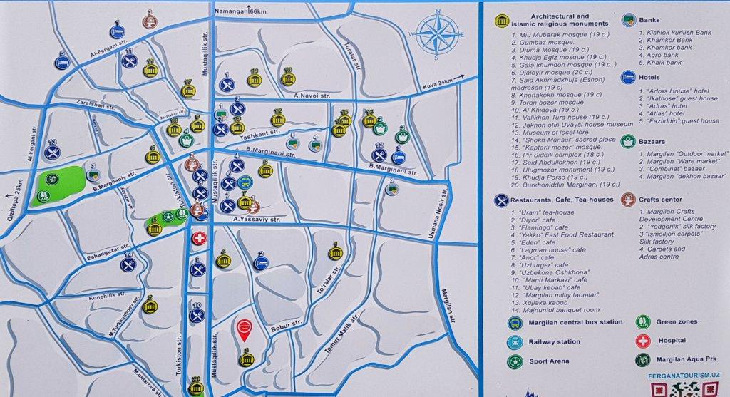 Map of Margilan