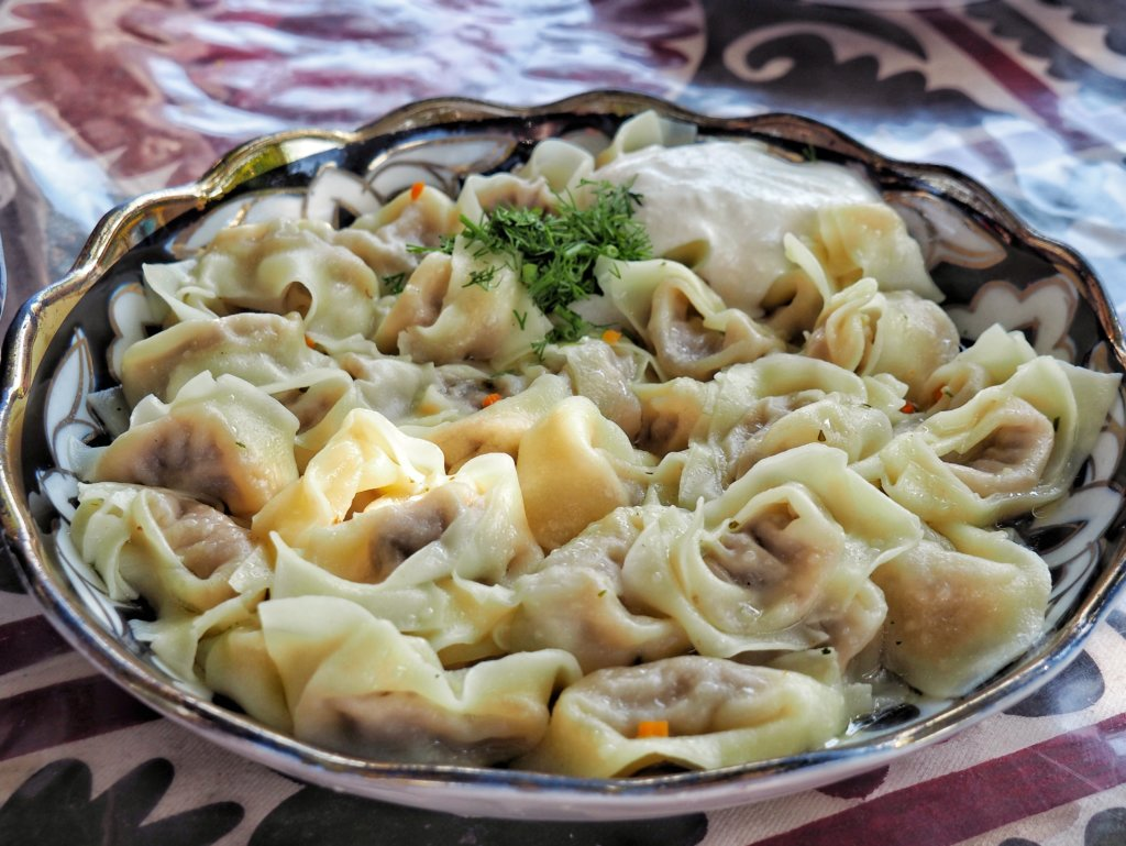 Pelmeni at Bibikhanum teahouse