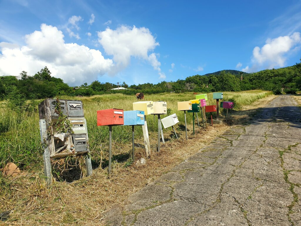 Post boxes on French Antilles