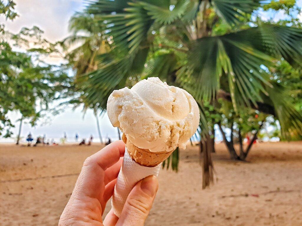 Manioc ice cream