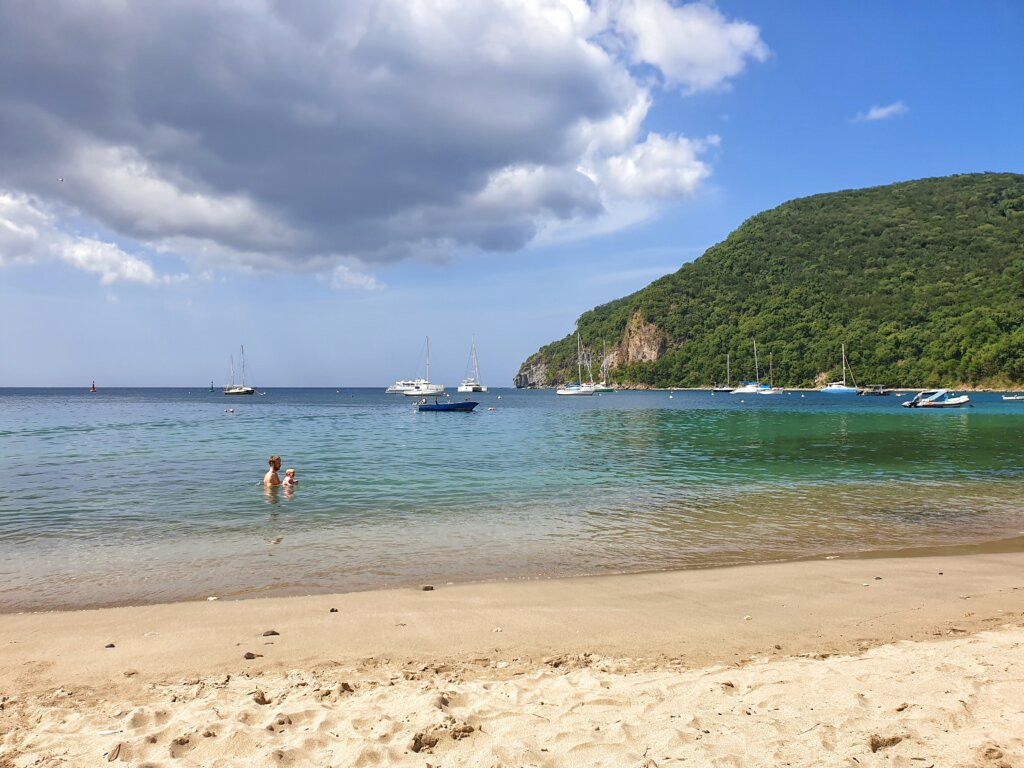 City beach of Deshaies